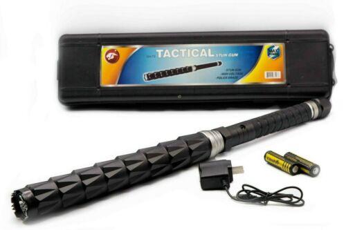 "22.5"" Cheetah Stun Gun Tactical High Powered Flash Light Rechargeable Security"