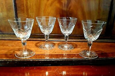 4 VINTAGE CRYSTAL VODKA PORT SHOT GIN LIQUER GLASSES CHATO CHIC