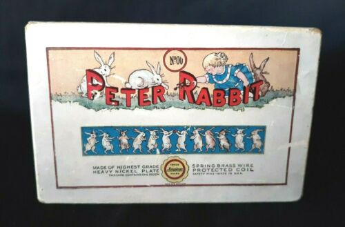 Vintage PETER RABBIT Safety Pins Box