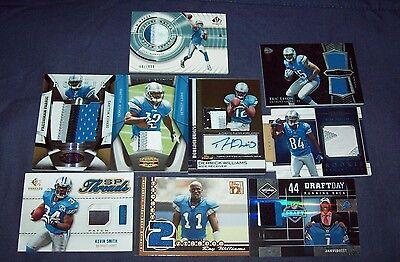 Nine Detroit Lions Premium Swatch Card Lot