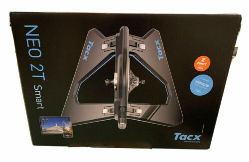 Tacx T2875.60 NEO 2T Smart Bike Trainer - Black With Accessories & Cassette Work