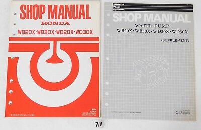 1 Genuine Honda WB20X WB30X WD20X WD30X Factory Service Shop Repair Manual OEM
