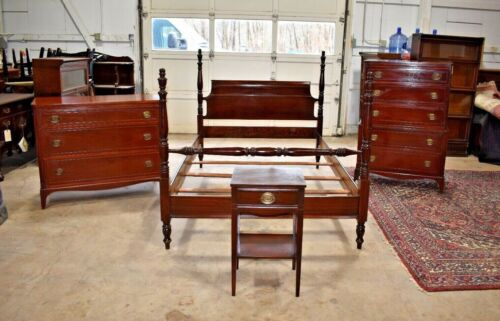 Antique Mahogany Bedroom Set, Full Queen