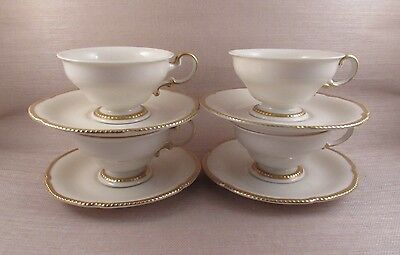 Vintage Castleton China SOVEREIGN Cups & Saucers - Four Sets