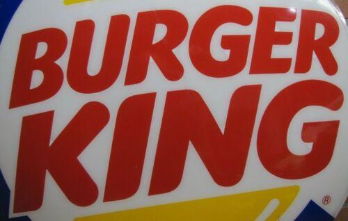 BURGER KING Original Fast Food Restaurant BK Sign Convex Storefront Advertising