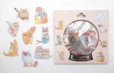 Kawaii cat sticker flakes! Cute animal stickers, planner stickers kitten sticker