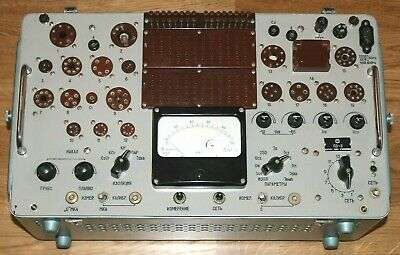 New L3-3 Soviet Vacuum Tube Tester Military Ussr Tested With Cards And Cord