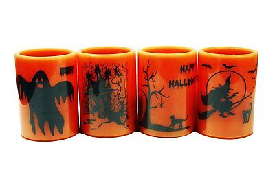 HAAC Led Kerze Leuchte Halloween Größe 10 cm x 7,3 cm Farbe orange / schwarz ()