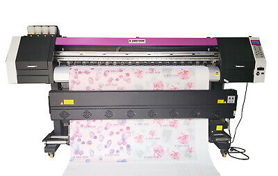 1830mm 72 Large Format Dye Sublimation Printer With 2x Epson 4720 Head 98 New