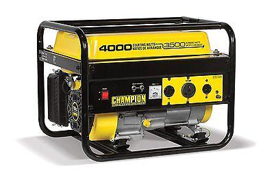 Champion 46596 4000-watt Portable Rv Ready Gasoline Powered Cold Start Generator