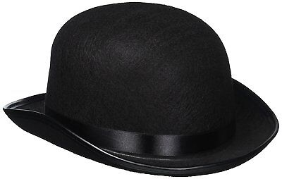 Classic Black Derby Hat - Tradition Felt Bowler Hat Fedora Trilby](Fedora Black)