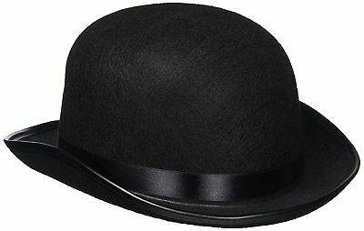 Classic Black Derby Hat - Tradition Felt Bowler Hat Fedora Trilby - Black Felt Derby Hat