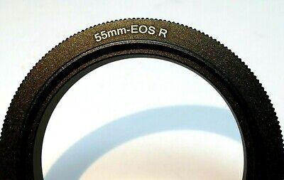 55mm Macro Objetivo Reverso Lente Anillo Adaptador Para Canon EOS R Cámaras...