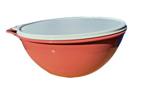 Tupperware Thatsa Bowl Large  32 Cup Guava With White Seal Color New