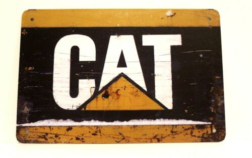 New Caterpillar Cat Tin Metal Sign Vintage Style Ad Earth Mover Heavy Equipment