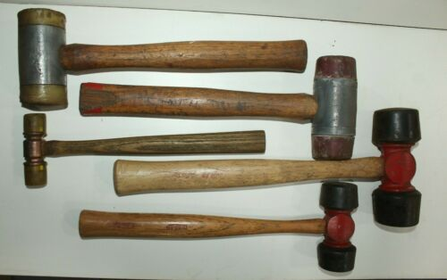 Lot of 5 Hammer Rubber Ends / Mallets