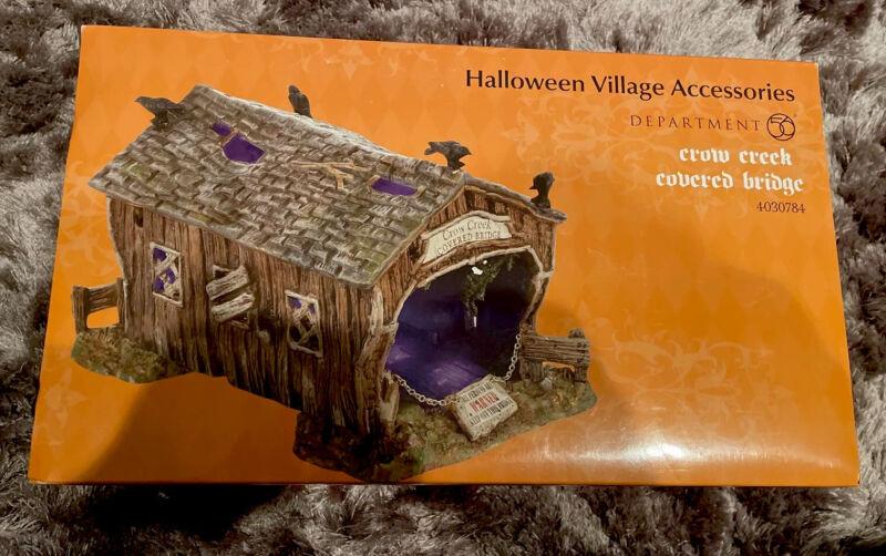 Crow Creek Covered Bridge Department 56 Halloween Dept New 4030784