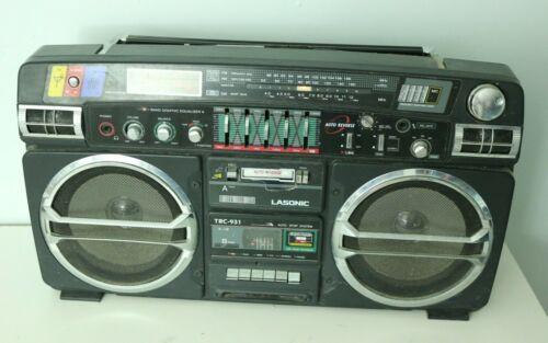 Lasonic TRC-931 Radio Boombox Cassette Tape Player Stereo Blaster VTG AM/FM