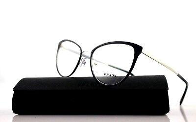New Authentic PRADA CINEMA Blue Silver Eyeglasses Frame PR 55TV (Prada Pr 55t)