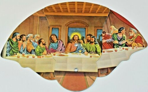 The Last Supper Christian Advertising Hand Fan Turner FUNERAL HOME Findlay Ohio