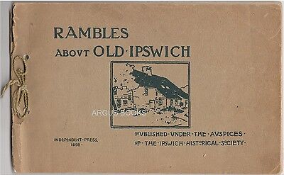 1898 ARTHUR WESLEY DOW WOOD BLOCK PRINT COVER DESIGN RAMBLES ABOUT OLD IPSWICH  Designer Print-cover