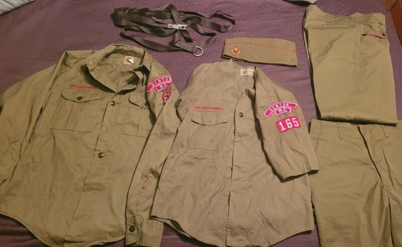 Boy Scout Shirt Clothes Lot Denton MD short sleeve long sleeve
