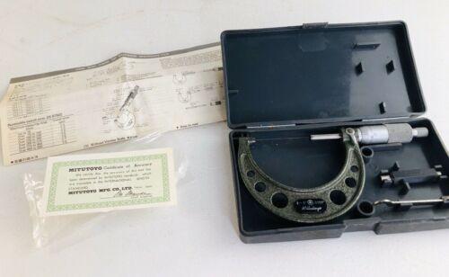 """MITUTOYO 103-217 2-3"""" .0001"""" Micrometer & Original Box"""