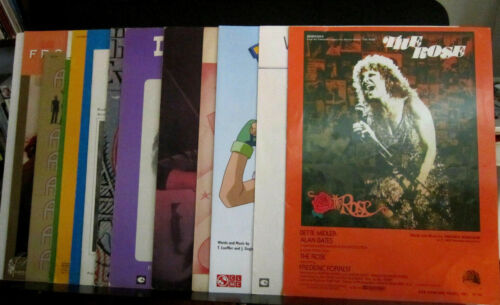 Lot of 15 pieces of Sheet Music, mostly 70s-80s. Mostly Excellent condition