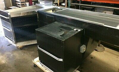 Pan Oston Checkout Counter W Belt Motorized Electric Used Store Grocery Fixtures