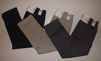 Calvin Klein Straight Fit Stretch Chino Pants Khaki Gray Blue 32 34 36 38 40
