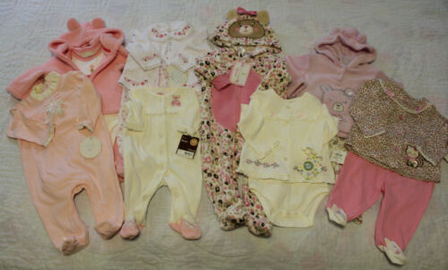 Nwt Infant Girl Clothes Lot 8 Outfits (14 Pieces Total) Pink Sizes Nb-6 Months