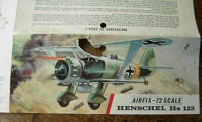 Vintage Airfix - Henschel Hs 123 -  Assembly instructions only