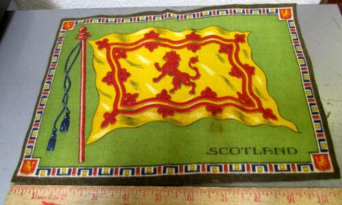 Vintage 1910-1915 Cigar Box Felt silk flag, SCOTLAND 7.5 x 10.5 inch, Scottish