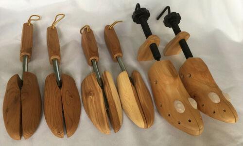 Shoe Stretchers Lot of 3 Mens' S-M Wooden Shoe Trees Inserts 2 Cedar