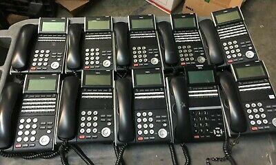 Lot Of 10 Nec Dt300 Series Model Dlv Xd-z-y Bk Dtz-12d-1bk Tel