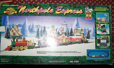 TOY SHOP North Pole Express Christmas Battery Operated Animated Train Set