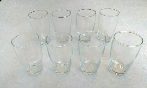 Clear 6 oz. Tapered Juice Glasses Set Of 8