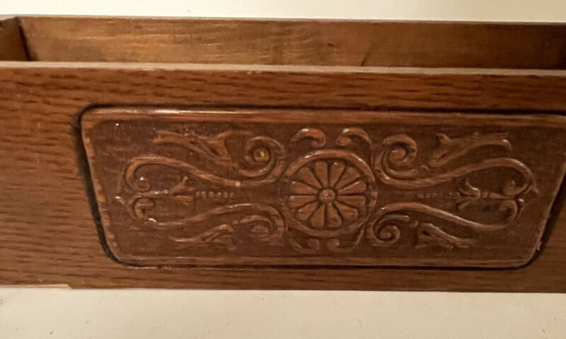 Antique Sewing Machine Drawer With Pull
