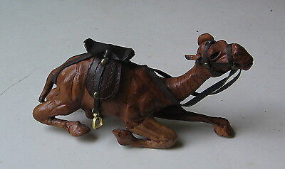 VINTAGE LEATHER CAMEL LAYING DOWN MODEL