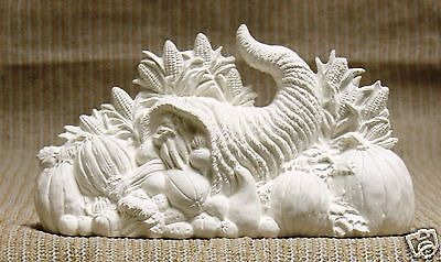 Ceramic Bisque Cornucopia Centerpiece Nowell Mold 1964 U-Paint Ready To Paint