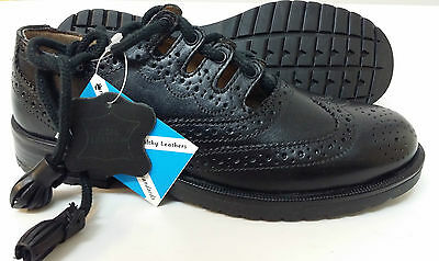 KIDS YOUTHS LEATHER SCOTTISH GHILLIE KILT LEATHER BROGUES SHOES