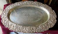 150903 Un Grande Vassoio In Sheffield Elegantemente Sbalzato -  - ebay.it