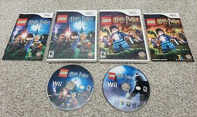 X2 LOT LEGO Harry Potter:Years 1-4 & 5-7 🔥TESTED PICS🔥 Nintendo Wii Complete