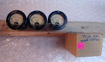 Vintage Usa  Analog Panel Meters Volts Dc... Triplett Simpson Ge