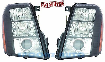 CADILLAC ESCALADE 2007 2008 2009 W/O HID HEADLIGHTS HEAD LAMPS OE STYLE - PAIR