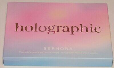 Sephora Holographic Face & Cheek Palette NIB 6 Shades Blush Highlighter Full Sz