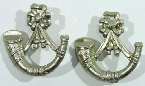 British Light Infantry Cap Badge, Pair
