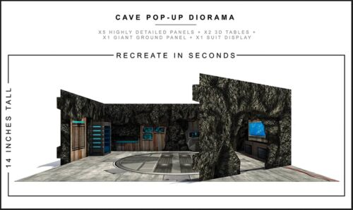 """Extreme-Sets Cave Pop-Up Diorama 1/12 Scale for 6""""-7"""" Action Figures"""