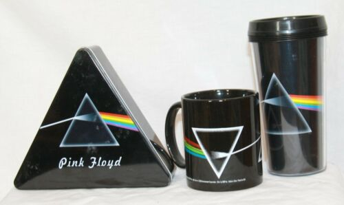 Pink Floyd Dark Side of the Moon collectible lot Mug Travel Coffee Tin
