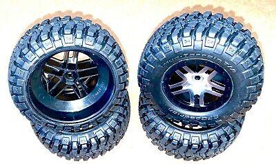 Traxxas Slash 4x4 Tires and Wheels Pre glued BF Goodrich T/A Mud-Terrain SC OEM